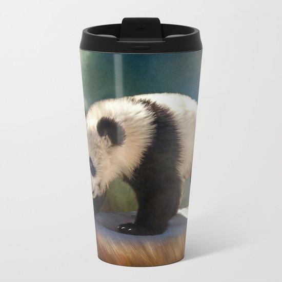 Cute panda bear baby Metal Travel Mug