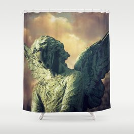 The Angel of Pere Lachaise Shower Curtain