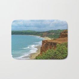Aerial Landscape Scene Pipa Beach, Brazil Bath Mat