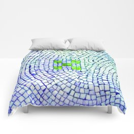 artisan 22.06.16 in lime & shades of blue Comforters