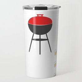 BBQ Timer Barbecue Product For Grilling  Print Travel Mug