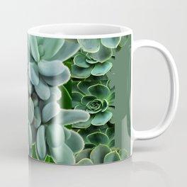 ARTISTIC GRAY-GREEN SUCCULENT ART Coffee Mug