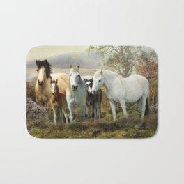 Connemara Ponies Bath Mat