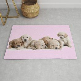 Golden Retriever Puppies Rug