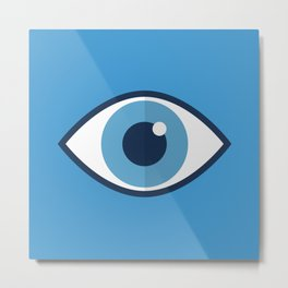 Spooky eyes (blue pattern) Metal Print