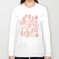 robots Long Sleeve T-shirts featuring Robots! by Paul McCreery