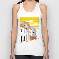 medieval Tank Tops featuring Medieval houses by LaDa