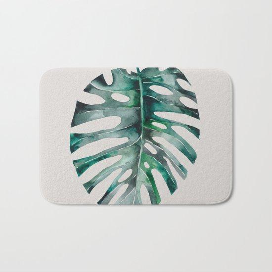 Monstera Leaf Bath Mat