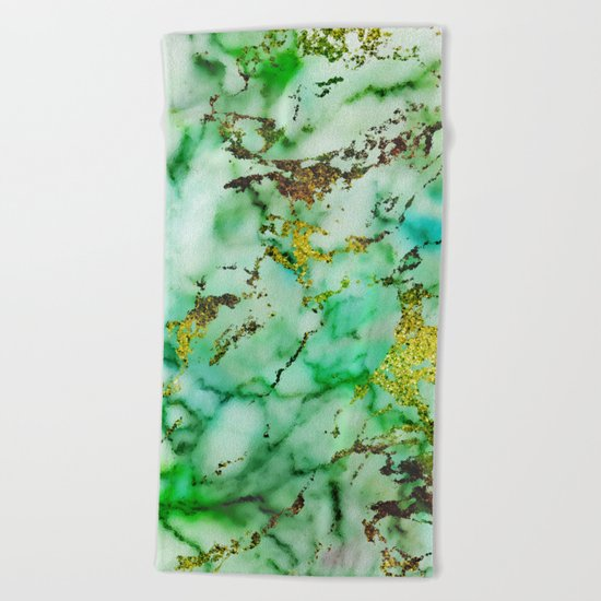 Marble Effect #3 Beach Towel