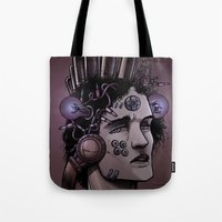 gamer Tote Bags featuring Gamer  by Art is Vast