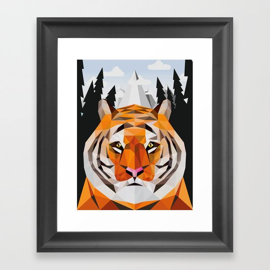 The Siberian Tiger Framed Art Print
