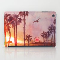santa monica iPad Cases featuring Sunset in Santa Monica by Kate Tova