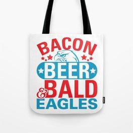 Bacon Beer Bald Eagles Tote Bag