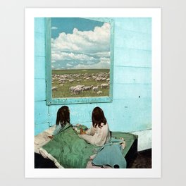COUNT SHEEP Art Print
