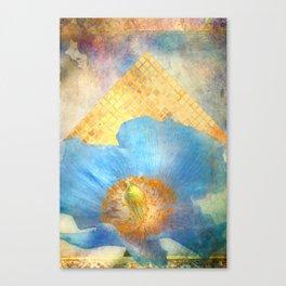Sky Poppy Canvas Print