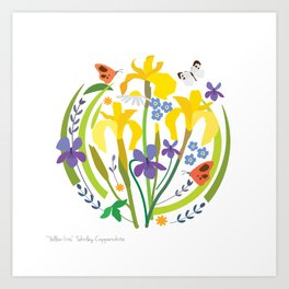 YELLOW IRIS PRINT Art Print