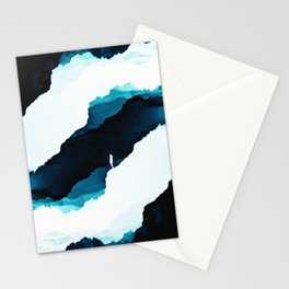 Teal Isolation Stationery Cards