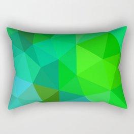 Emerald Low Poly Rectangular Pillow