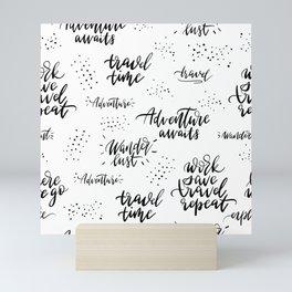Travel Time Pattern Mini Art Print
