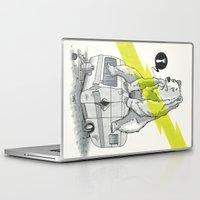 camping Laptop & iPad Skins featuring Camping Bear by Duke.Doks