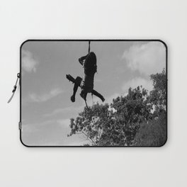Girl on Swing B&W Laptop Sleeve