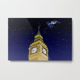 London Big Ben Full of Stars Metal Print