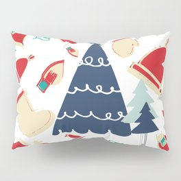 Christmas tree blue Pillow Sham