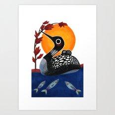 Baby Loon Art Print