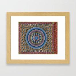 Armenian illuminated manuscript style concentric circles design Framed Art Print