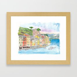 Portofino Ligure Dream Seafront View Framed Art Print
