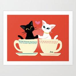 Pair cup Art Print