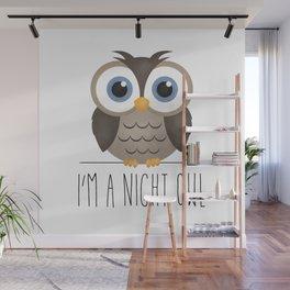 I'm A Night Owl Wall Mural