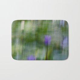 Tropical Impressionism (Purple Water Lily) Bath Mat