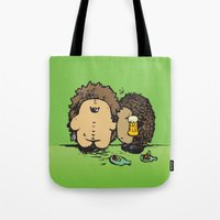 wasted rita Tote Bags featuring Wasted by mangulica illustrations