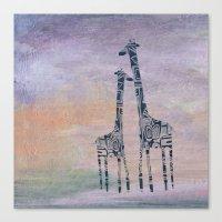 giraffes Canvas Prints featuring giraffes by Bunny Noir