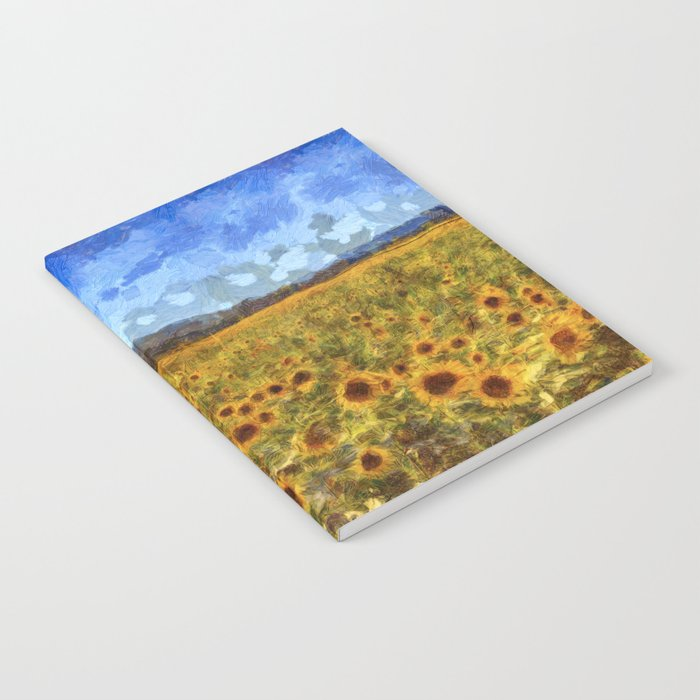 Vincent Van Gogh Sunflowers Notebook