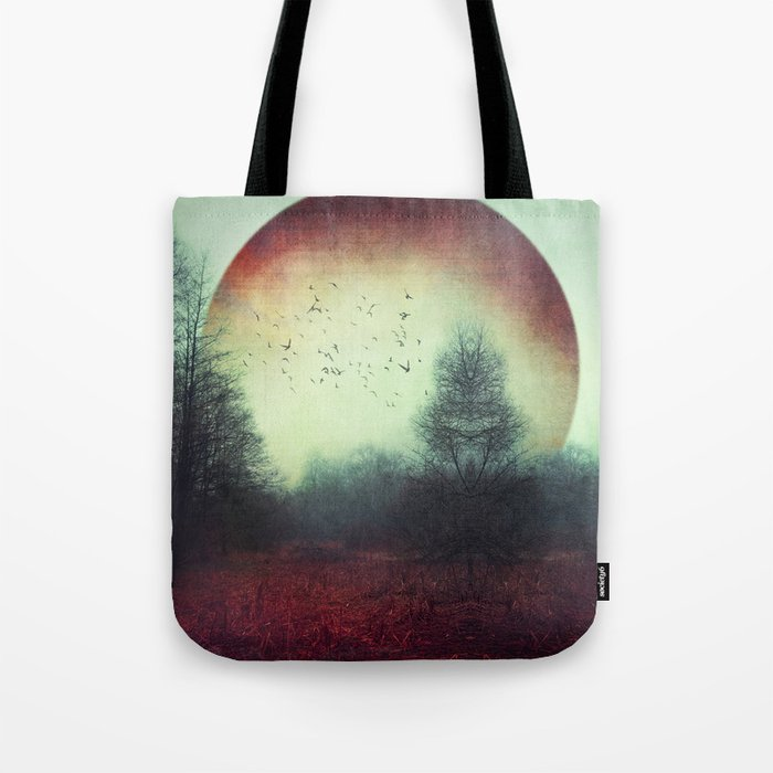 unReality - Fantastic Landscape with Red Planet Tote Bag