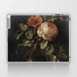 Botanical Rose And Snail Laptop & iPad Skin