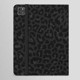 Dark abstract leopard print iPad Folio Case