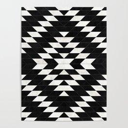 Urban Tribal Pattern No.14 - Aztec - Black Concrete Poster