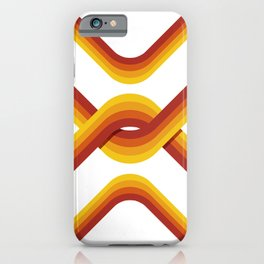 Retro Stripe Light iPhone Case