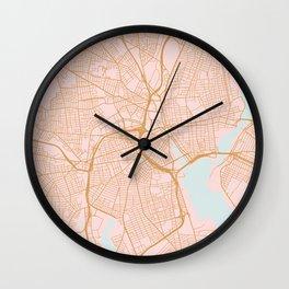 Providence map, Rhode Island Wall Clock
