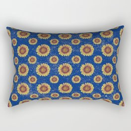 Swirly Sunflower Rectangular Pillow