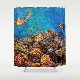 Coral Bliss Shower Curtain
