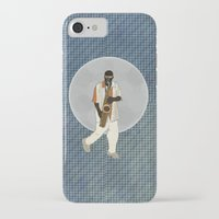 saxophone iPhone & iPod Cases featuring Saxophone Musician by Aquamarine Studio