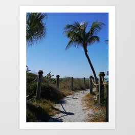 Captiva Island Beach Access Art Print