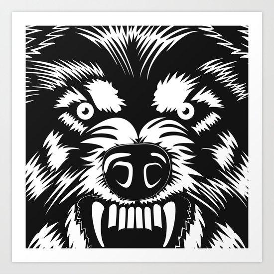 big bad wolf II Art Print