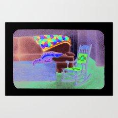 Alternate lighting source Art Print