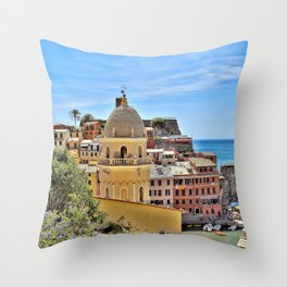 Cinque Terre Gem Throw Pillow