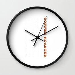 Coffee Roaster T-Shirt Wall Clock
